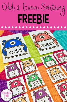 Help your kindergarten, grade one, or grade 2 students learn their odd and even numbers with this FREE sorting activity! Click through to get yours! First Grade Classroom, Math Classroom, Second Grade Math, Grade 2 Math Games, Centers First Grade, Third Grade, 1st Grade Learning Games, Teaching First Grade, Math Intervention