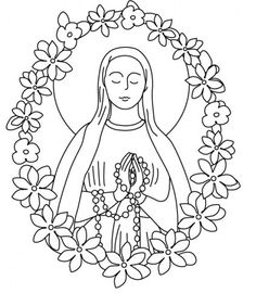 our lady of guadalupe coloring pages 004jpg