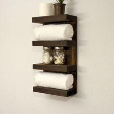 Do It Yourself Storage Ideas inspiring do it yourself; towel storage ideas! | bathroom