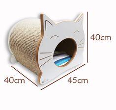 Cama Toca Casinha Arranhador Para Gato - Happy Cat - R$ 398,90