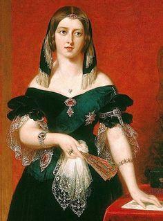 Queen Victoria wearing rubies, John Partridge, 1840