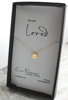 Gold Heart Infinity Initial Tag Necklace. Initial Personalized Gold Necklace. Gifts for Her. Love Fine Jewelry. Inspirational Jewelry.