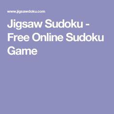 Jigsaw Sudoku - Free Online Sudoku Game
