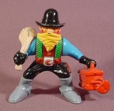 Fisher Price 1996 Bandit Cowboy Figure Strongbox Bag Of Loot 77052 Western Town