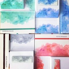 PASTEL WASH stationery from Finmark. Australian designed range of beautiful gifts including shopping lists, address books, note pads and gift tags.