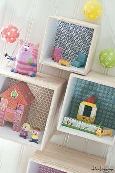 Una casita de muñecas en la pared - DecoPeques