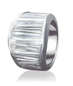 CELLINI Wave Crisscut Diamond Band
