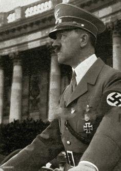 Adolf Hitler in 1938 in Vienna.