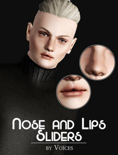 voicesshoots: nose & lips sliders