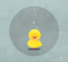 Oops, no one found me wearing a raincoat. Duck Illustration, Character Illustration, Duck Wallpaper, Duck Drawing, Duck Cartoon, Cute Characters, Fictional Characters, Cute Stickers, Cute Wallpapers