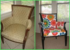 Before/After DIY Upholstery job w/ IKEA fabric