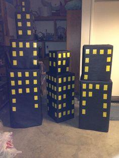 Superhero party buildings