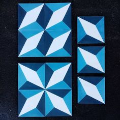 Fun geometric tile... would you choose cubic or star pattern? #thorntonstudiotiles #encaustictilesnz #encaustictiles #cementtilesnz #cementtiles #moroccantiles #madeinmorocco