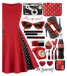 """Pin up girl"" by puljarevic ❤ liked on Polyvore featuring Pinup Couture, Comme des Garçons, Chanel, NARS Cosmetics, NYX, Christian Dior, MAC Cosmetics, Giorgio Armani and vintage"