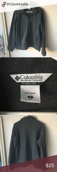 Grey Columbia full zip sweater Great condition. Men's medium Columbia Sweaters