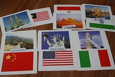 Match Flags, Landmarks, and Capital Cities of the World