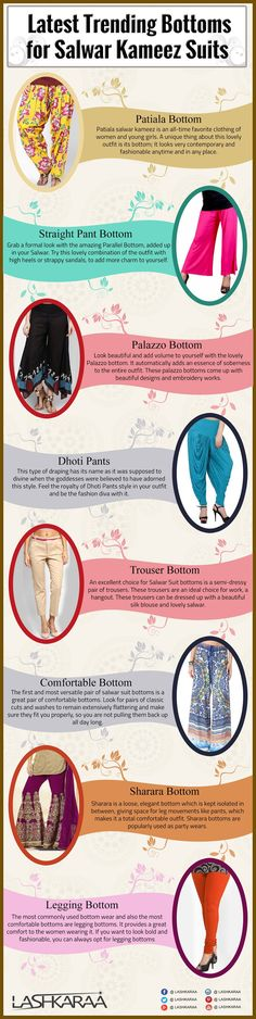 bottoms for kurti or kameez