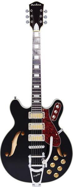Semi Acoustic Guitar, Guitar Amp, Cool Guitar, Vintage Electric Guitars, Vintage Guitars, Eastwood Guitars, I Love Bass, Guitar Drawing, Bass Guitar Lessons