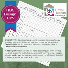 HDC Design Tips! Always start with a Master Plan!