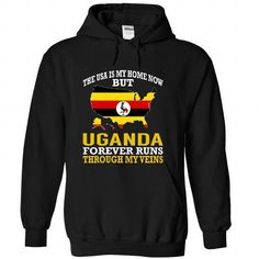 The USA is My Home Now But Uganda Forever Runs Through  - #black sweatshirt #white hoodies. LOWEST SHIPPING => https://www.sunfrog.com/States/The-USA-is-My-Home-Now-But-Uganda-Forever-Runs-Through-My-Veins-efjuxvozjf-Black-Hoodie.html?60505