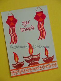 Handmade Card On Diwali Handmade Diwali Greeting Cards, Diwali Cards, Pop Up Greeting Cards, Diwali Greetings, Greeting Card Template, Diwali Diya, Diwali Card Making, Diwali Craft For Children, Diwali Activities