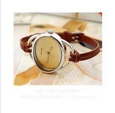 Watch.Womans watch.Vintage watch.Retro watch.Brown leather watch.Handmade watch.Cute woman watch.Fashion watch.