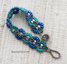Bead Pack BB-166 Blue Reverie Bracelet Tutorial by Deb