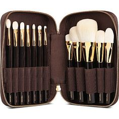The Tom Ford Deluxe 12-piece brush set brings ease and luxury to applying your makeup.