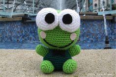 Keroppi (grenouille) patron crochet amigurumi gratuit français ( free pattern)