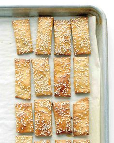 Cheesy Chickpea and Sesame Crackers