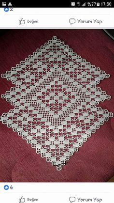 This Pin was discovered by CevThis post was discovered by Fatma. Discover (and save!, Discover recipes, home ideas, style inspiration and other ideasThis beautiful handmade doily is made from natural or ecru cotton thread, size This elegant doily wil Crochet Table Runner Pattern, Crochet Placemats, Crochet Dishcloths, Crochet Doily Patterns, Crochet Doilies, Crochet Stitches, Crochet Curtains, Single Crochet Stitch, Lace Doilies