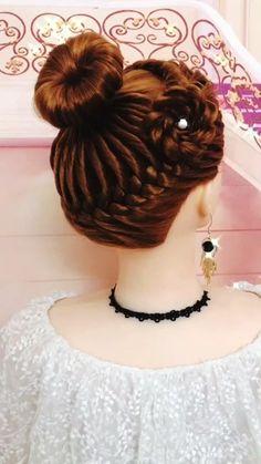 Hairdo For Long Hair, Cute Hairstyles For Medium Hair, Braided Hairstyles Updo, Bride Hairstyles, Hair Up Styles, Medium Hair Styles, Hair Style Vedio, Hair Videos, Hair Hacks