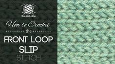 100's of How to tutorials on crochet and knitting stitches under the Video Stitchionary section.  Great easy to follow tutorials.