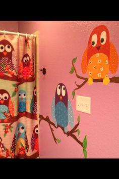 Ryann's Owl bathroom