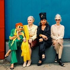 The Advanced Style ladies at NYC Fashion Week 2013. This makes me all TOO happy / fulfilled / fashionably awakened!!!