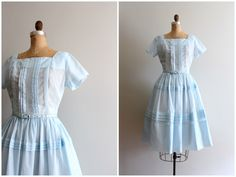 A personal favorite from my Etsy shop https://www.etsy.com/listing/465534087/vintage-50s-pastel-day-dress-fit-and