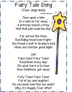 Fairy Tale Song from First Grade Wow Laura Jayson Jayson Jayson Jayson Bilodeau Fairy Tale Crafts, Fairy Tale Theme, Fairy Tale Projects, Fairy Tale Activities, Fractured Fairy Tales, Fairy Tales Unit, Daily 5, Traditional Tales, Kids Poems
