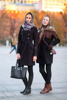 Winter outfit ideas from the stylish (and chilly) streets of Russia.