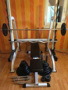 Fitness Center, Bad Company Hantelbank Set lang und kurz Hantel   eBay