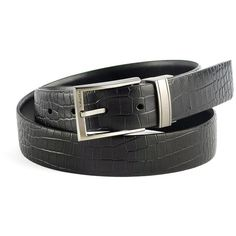 Calvin Klein Reversible Belt ($23) ❤ liked on Polyvore featuring men's fashion, men's accessories, men's belts and black
