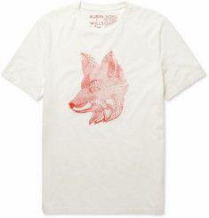 Aubin & Wills - Attingham Fox-Print Cotton-Jersey T-shirt