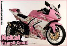 Pink Ninja 250 | Pink Kawasaki Ninja 250R Costum Modification | Motorcycles and Ninja ...