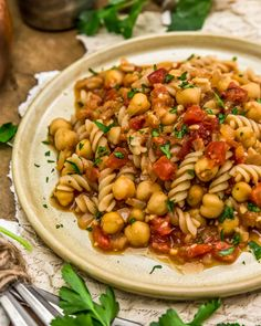Comforting, flavorful, and easy, this 20-minute BBQ Chickpea Pasta is brimming with wholesome goodness and barbecue deliciousness. #wholefoodplantbased #vegan #oilfree #glutenfree #plantbased   monkeyandmekitchenadventures.com