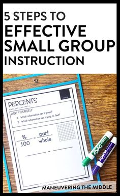 Small group instruction can seem complicated and like a lot of work. Read these 5 steps to simple and effective small group instruction. | maneuveringthemiddle.com #mathintervention… More