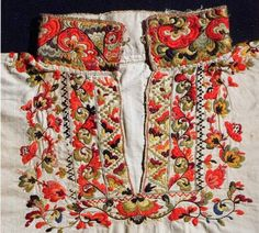 FolkCostume&Embroidery: East Telemark, Norway, embroidered shirts for Raudtrøye and Beltestakk Folk Costume, Costumes, Norwegian Clothing, Scandinavian Embroidery, Contemporary Decorative Art, Folk Clothing, Hardanger Embroidery, Bridal Crown, Embroidered Shirts