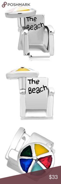 Summer Beach Chair Charms Beads For Bracelets Summer Beach Chair Charms Sun Umbrella Beads For Bracelets | Fit Pandora Bracelet Jewelry Bracelets