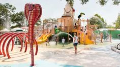 Cool off at Cool Zoo the wild and wet splash park at Audubon Zoo