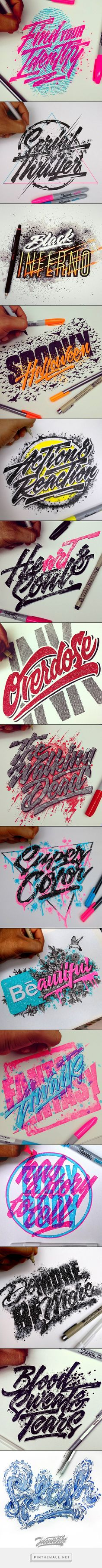 Hand-lettering designs by Juantastico   From up North