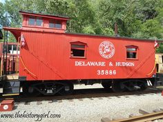 Delaware  Hudson Railroad Caboose No. 35886 was built in 1913 and now located at the Whippany Railway Museum, in Whippany, NJ. The museum is located in a restored 1904 Freight House of the Morristown and Erie Railroad. The railroad yard includes the Whippany passenger depot, coal yard, 1904 wooden water tower, and dozens of historic railcars, including one of the oldest steam locomotives in America, Southern Railway No. 385, built in 1907. Discover more @ www.thehistorygirl.com