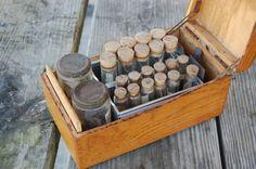 Vintage Science Entomology Specimens, Specimen Jars, Specimen Tubes, Metal Trays, Wood Box Kit on Etsy, $129.00